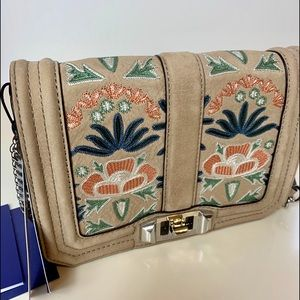 Rebecca Minkoff Embroidery Small Love Crossbody